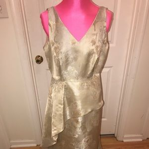Cream gold mother of bride dress